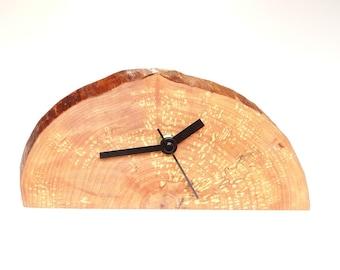 Wood slice clock, clock, rustic clock, desk clock, gift ideas (008)