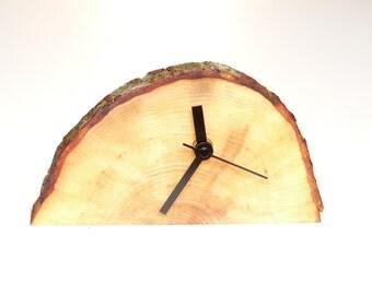 Clock, wooden desk clock, rustic clock, gift ideas (010)