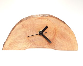 Clock, wood slice clock,wooden clock, rustic clock, desk clock (012)