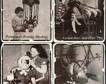 Vintage Beauty Ads -Coaster Set
