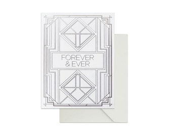 Engagement and Wedding 'Forever & Ever' Greeting Card
