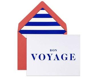 FAREWELL Card | BON VOYAGE Card | Goodbye Card | Farewell Greeting Card | Masculine Farewell Card | Modern Farewell Card | Best Wishes Card
