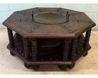 Vintage Medievil style Coffee Table with Brazier