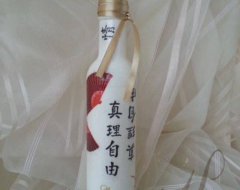 DECORATIVE DECOUPAGE BOTTLE