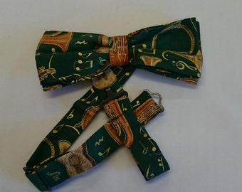 Green Music Bow Tie