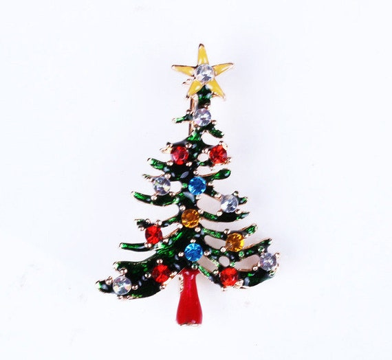 Christmas tree colourful murano glass pin by muranoaustralia - Murano glass christmas tree ...