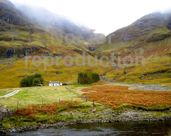 Scottish Highlands Waterfall Photography Print