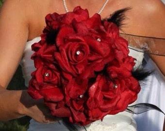 Bride's Bouquet with Rhinestone Accent