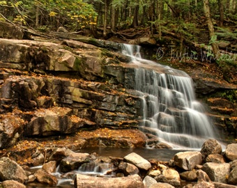 Falling Waters Trail Franconia Notch New Hampshire Instant Digital Download Summer in New England