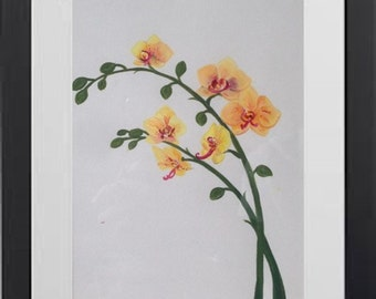 Yellow Orchids - Acrylic Handpainted