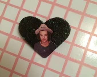 Harry Styles Pin - One Direction Band Pin