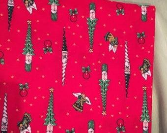 "73"" x 45"" country Santa fabric"