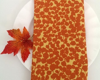 Orange Napkins - Set of 4