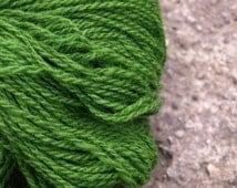 Grass Green 100% Natural Wool Yarn 100g
