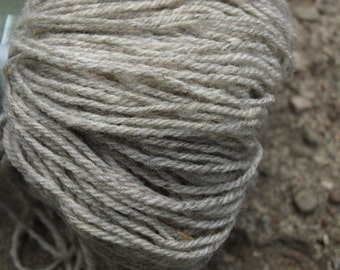 Light Grey 100% Natural Wool Yarn 100g