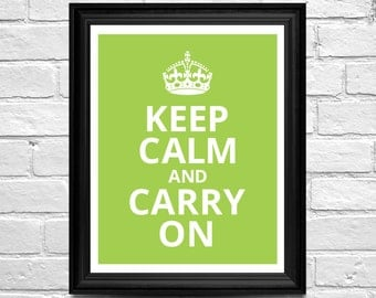 Keep Calm and Carry On - Art Print Poster - Keep Calm Art