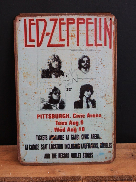 Led Zeppelin Vintage Style Metal Sign ( 20x30cm )