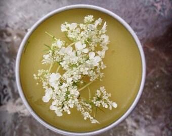 Organic Healing Yarrow Calendula Salve-Tattoo Balm-Salve-Vegan-Herbal Balm-Yarrow Balm-Rash Cream-Ointment-Natural Skin Care-Healing Salve