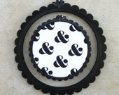 3D Printed Black Scalloped Embroidery Hoop