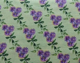 1 Yard Kathy Davis Free Spirit Wildflower Wisteria Fabric