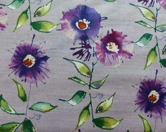 1 Fat Quarter Kathy Davis Free Spirit Wildflower Wisteria Fabric