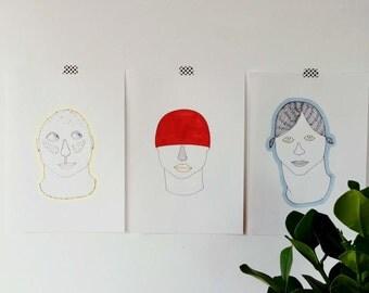 3 heads A4 RIGINAL