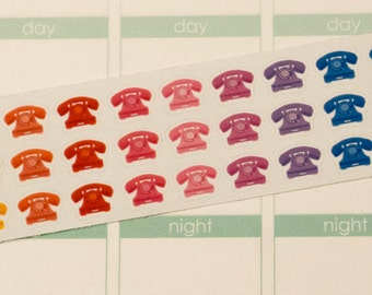 Retro Telephone Planner Stickers