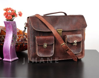 Leather Messenger Bag leather Briefcase