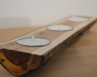 Handmade English Yew-wood Tealight Holder