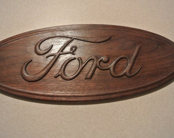 Ford Walnut Sign American Made/ Homemade