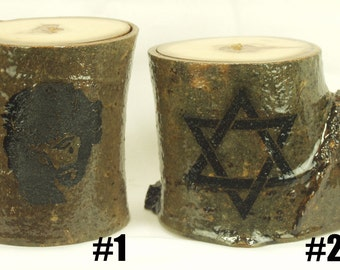 Wooden candle holders, candle holders,Jewish,Christian,