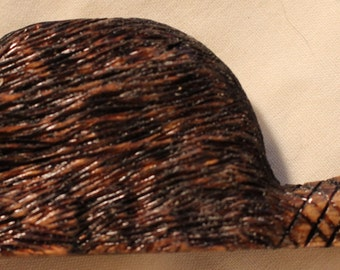 Hand Carved Beaver Pin