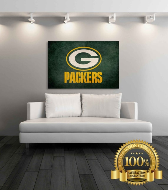 Green Bay Packers Man Cave Decor : Green bay packers canvas by