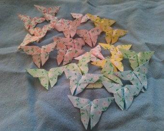 24 Origami Butterflies