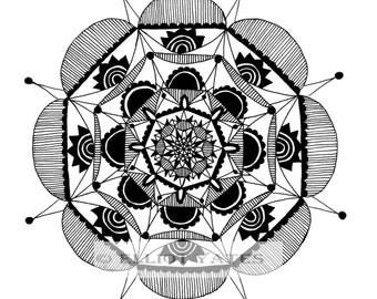 Mandala 1 (Square Print)