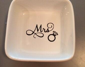 Mrs. Custom Ring Dish