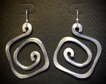 Feather Weight Hammered Wire Earrings