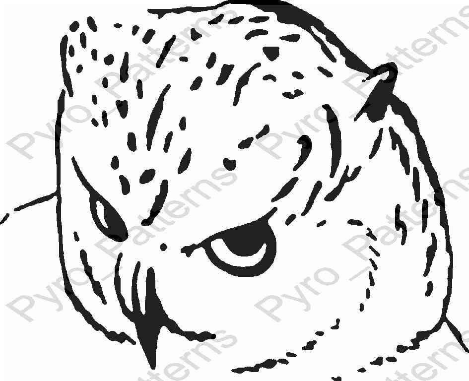 Owl bird pyrography wood burning pattern printable stencil for Wood burning templates free download
