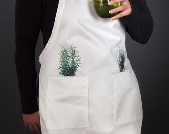 Kitchen aprons for the modern home chef. For men and women (Herbs, Rosemary & Thyme) FREE SHIPPING
