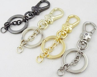 9cm Golden Flower Key Clasp, Pendant, Key Ring, Key Chain, High Quality Buckle, Metal Key Chain
