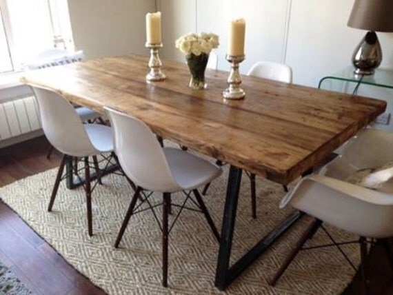 Vintage Industrial Dining Room Table. Like this item  Vintage Industrial Rustic Reclaimed Plank Top Dining Table