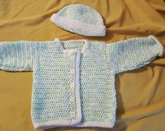 Newborn sweater set - Ready to Ship