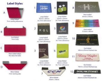 1000 piece Woven Labels