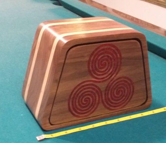 Walnut plywood band saw box