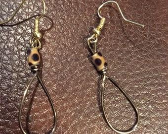 Beaded Wire Earrings