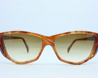 Interoptica Vintage Cats Sunglasses Nos Soleil Lux Blonde Tortoise 1970s 57mm