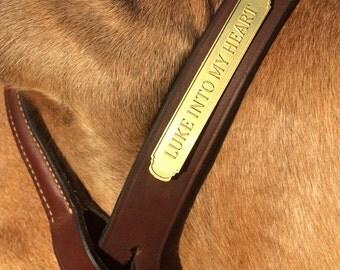 Custom Horse Bridle Nameplate