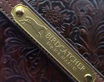 Custom Horse Halter Nameplate