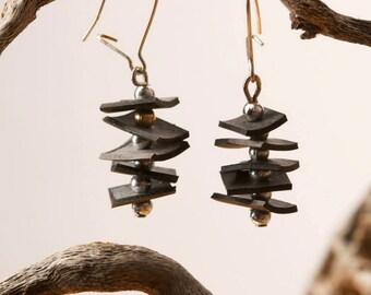 Upcycled Stacked Inner Tube Earrings