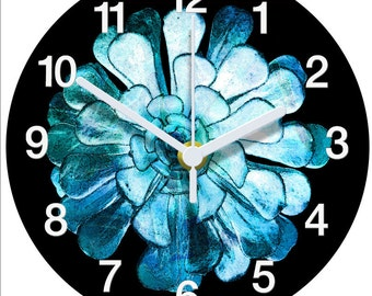 Blue Aeonium Clock